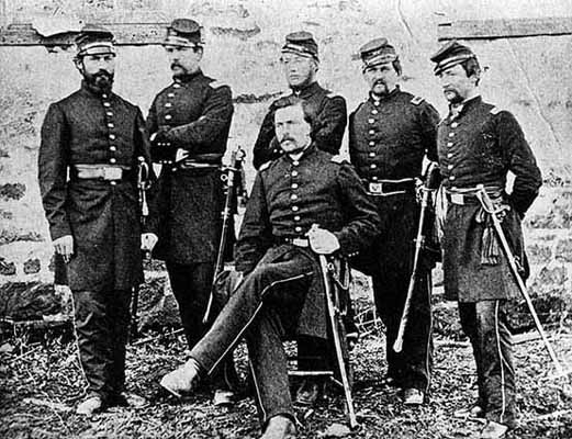 Officers of the First Minnesota Volunteers, 1862, by Mathew Brady