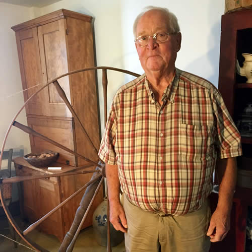 Carl Stickney and Spinning Wheel